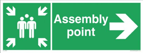 Fire assembly point - right